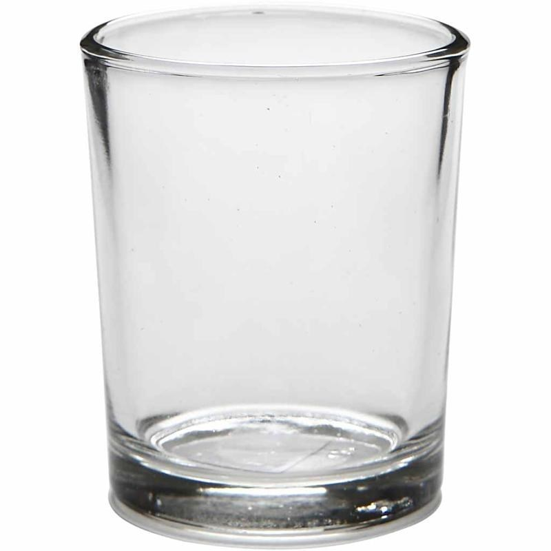 Details about Glass Tea Light / Votive Candle Holder - Small Straight