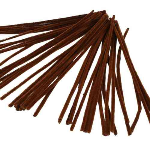 "Pack of 50 12"" Pipe Cleaners / Chenille Stems - Brown"