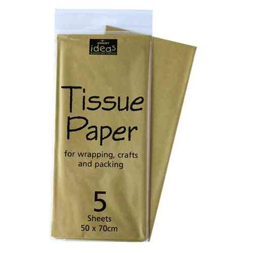 Tissue Paper 5 Sheet Pack - Gold