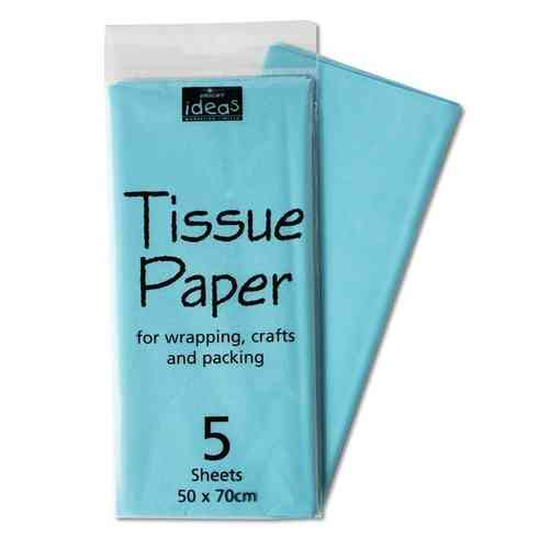 Tissue Paper 5 Sheet Pack - Light Blue