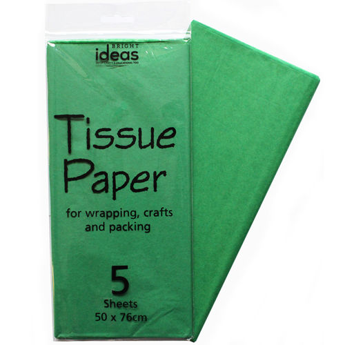 Tissue Paper 5 Sheet Pack - Emerald Green