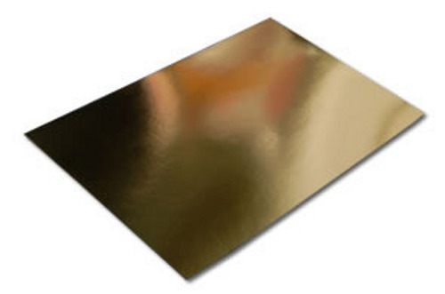 Pack of 5 A4 Sheets of Dovecraft Bright Metallic Gold Mirror Card