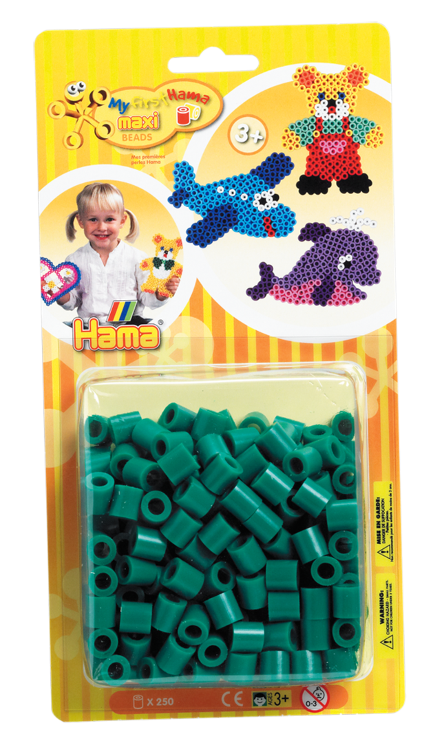 Pack of 250 Hama Maxi Beads Green (8610)