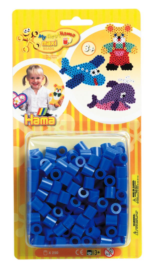 Pack of 250 Hama Maxi Beads Blue (8609)