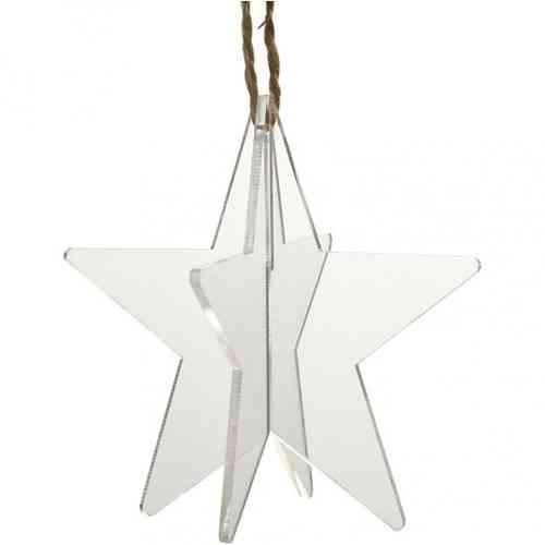 Pack of three 3D Acrylic Hanging Stars