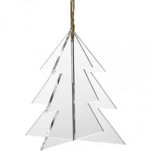 Pack of three 3D Acrylic Hanging Christmas Trees