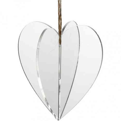 Pack of three 3D Acrylic Hanging Hearts