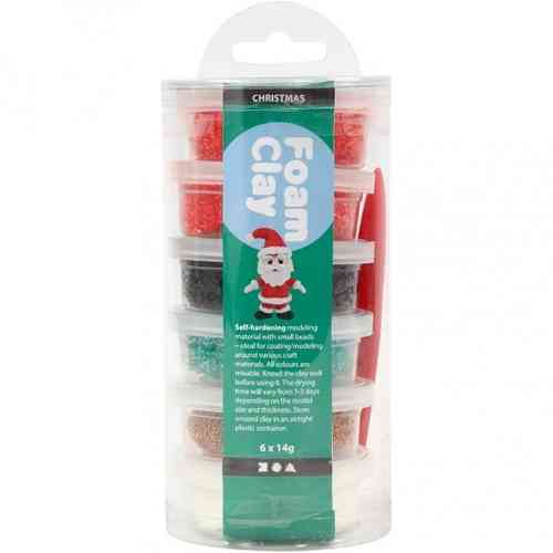 Foam Clay Assortment (6 x 14g pots) - Christmas Colours
