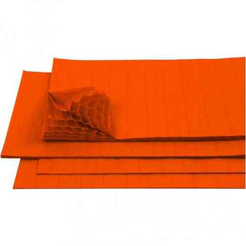 Honeycomb Tissue Paper - Orange
