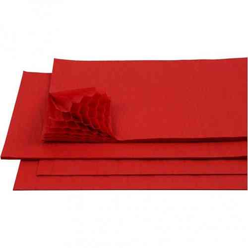 Honeycomb Tissue Paper - Red
