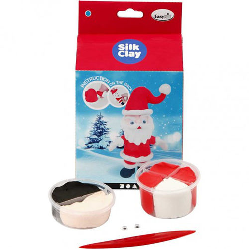 Silk Clay Funny Christmas Friends Kit - Santa