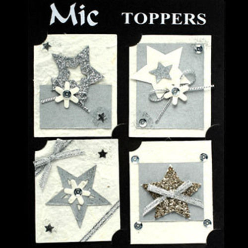 Assorted Silver Star Toppers