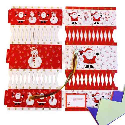 Pack of 6 Make Your Own Crackers Red and White (BI0409)