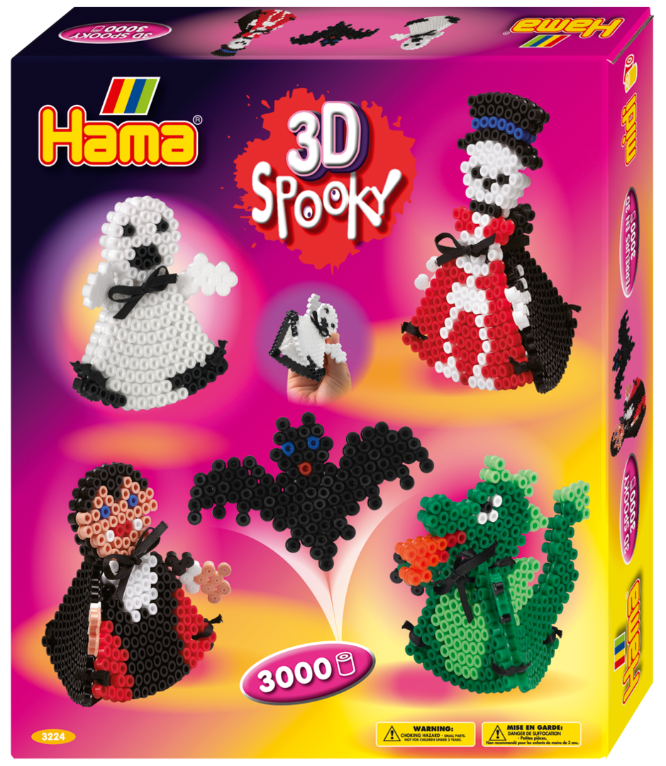 Hama Midi Bead Box Kit - 3D Spooky (3224)