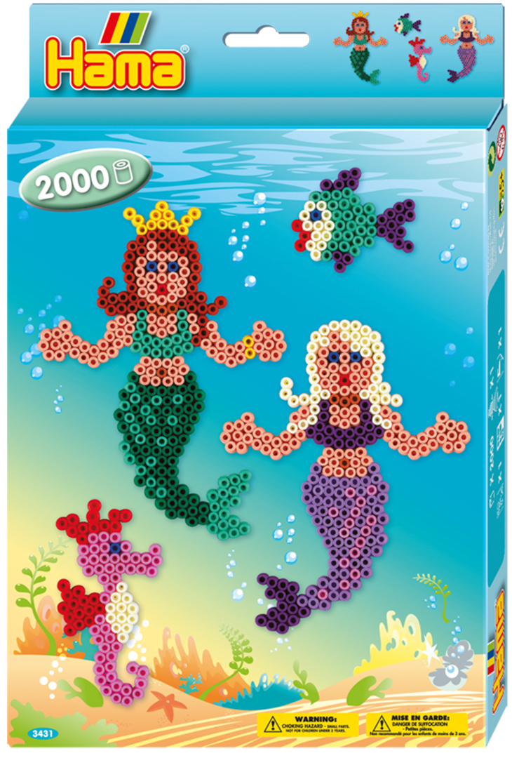 Hama Midi Bead Box Kit - Mermaids (3431)