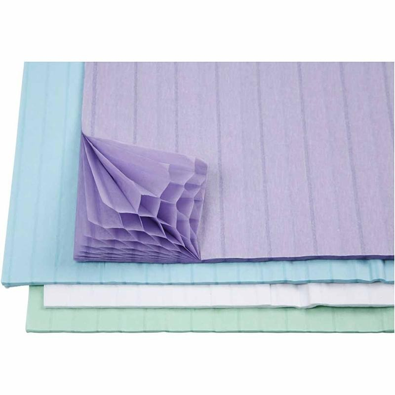assorted honeycomb tissue paper  pastel colours  giggle
