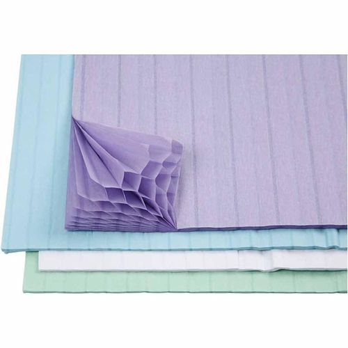 Assorted Honeycomb Tissue Paper - Pastel Colours