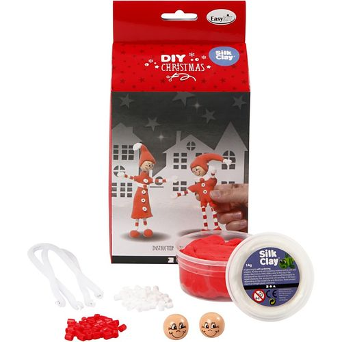 Silk Clay Funny Christmas Friends Kit - Thin Legged Elves