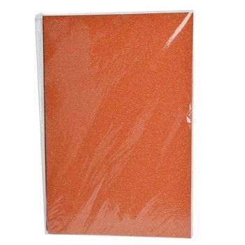 Single Sheet of Glitter Foam 200mm x 300mm x 2mm - Orange
