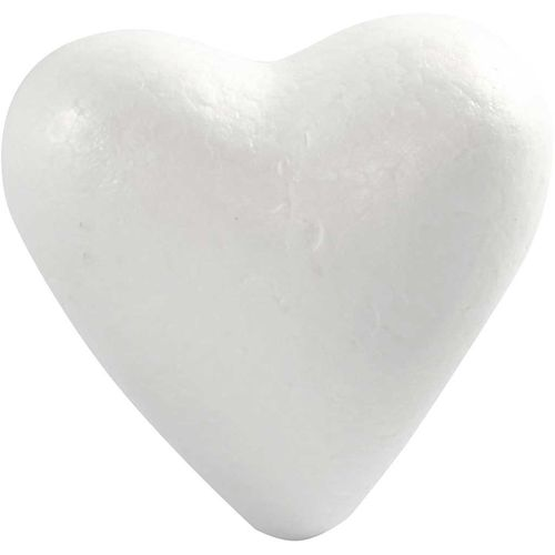 Polystyrene Chunky Heart 12cm Pack of 2
