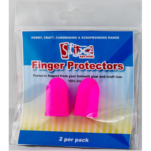 Set of Two Stix 2 Pink Silicone Finger Protectors