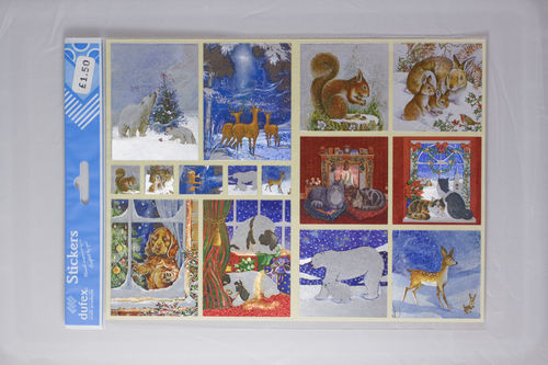 Dufex Christmas Wildlife Stickers (242541)
