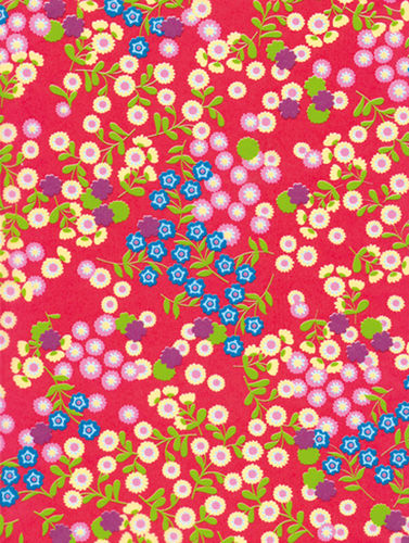 Decopatch Sheet - Dark Red with Flowers (383)