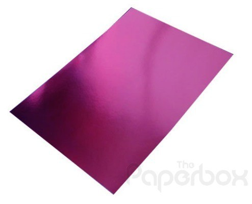 Pack of 10 A4 Sheets of Pink/Rose Mirror Card 250gsm