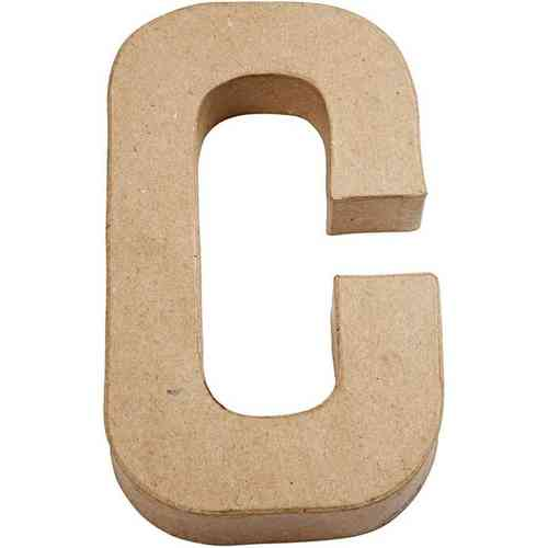 Large Paper Mache Capital Letter 'C' Approx 21cm