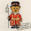 Images of Britain Cross Stitch Kit - Beefeater Teddy