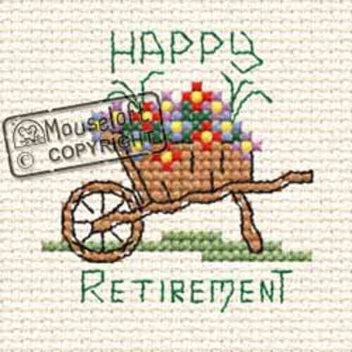 Mouseloft Special Occasions Cross Stitch Kit - Happy Retirement