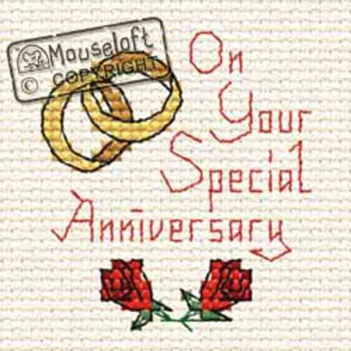 Mouseloft Special Occasions Cross Stitch Kit - Special Anniversary