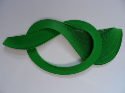 Pack of 100 Strips of 3mm Quilling Papers Green