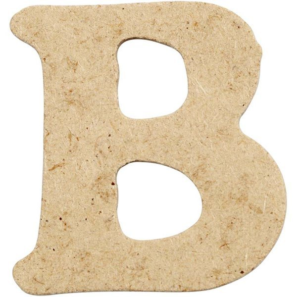 4cm MDF Letter B (Pack of 10)
