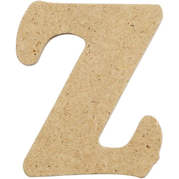 4cm MDF Letter Z (Pack of 10)
