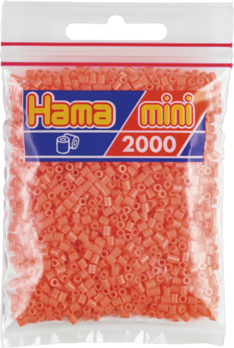 Pack of 2000 Hama MINI Beads - Pastel Red (501-44)