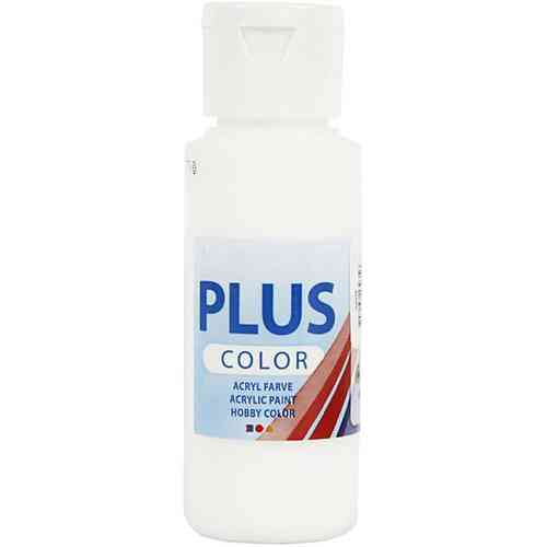 Plus Color Acrylic Craft Paint 60ml - White