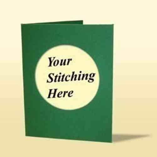 Deep Green Mini Trifold Card and White Envelope