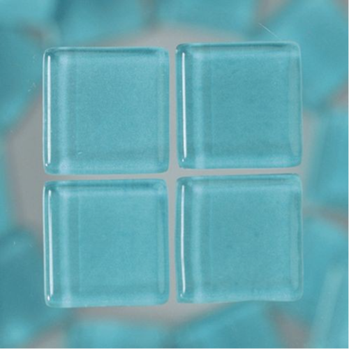 MosaixSoft Glass Mosaic Tiles 10mm x 10mm x 4mm - Turquoise