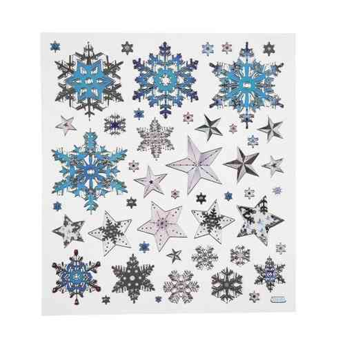 Fancy Christmas Stickers - Snowflakes