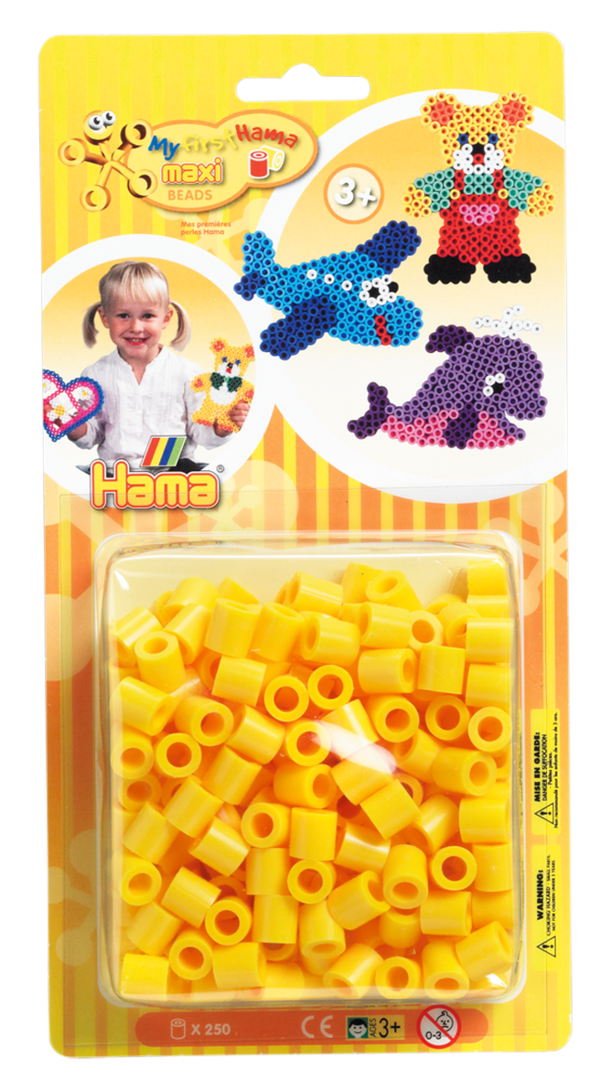 Pack of 250 Hama Maxi Beads Yellow (8603)