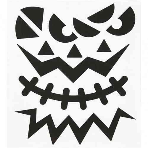 Fancy Halloween Stickers - Big Faces