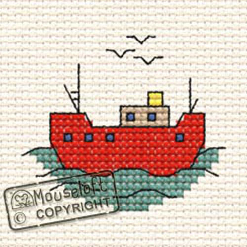 By The Seaside Cross Stitch Kit - Fishing Boat