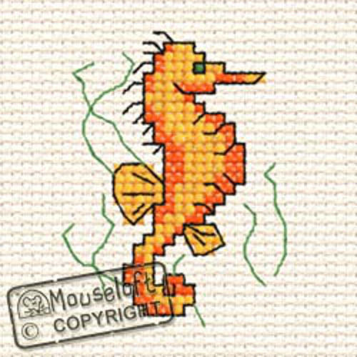 By The Seaside Cross Stitch Kit - Seahorse