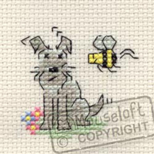 Little Dog Cross Stitch Kit - Summertime
