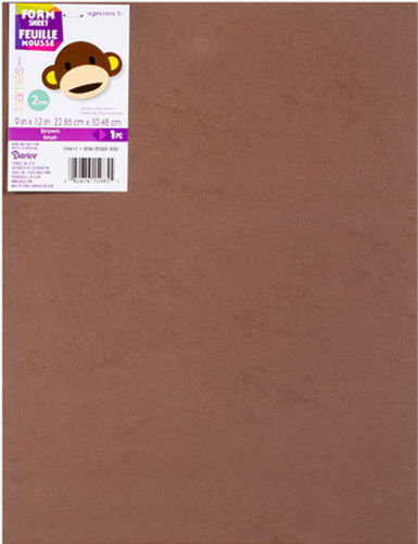 10 x A4 Sheets of Brown Fun Foam 9x12""
