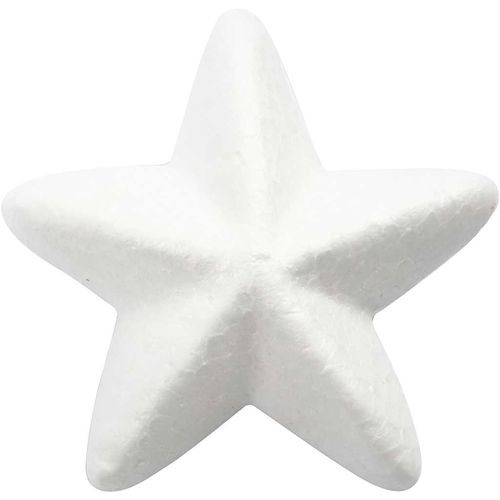 Polystyrene Stars 6cm Pack of 5