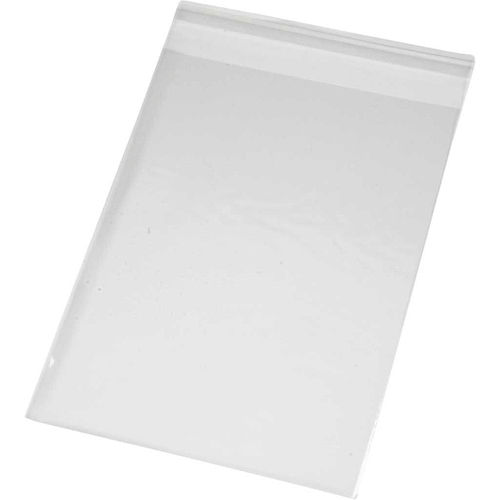Pack of 100 Cellophane Peel and Seal Card Bags A6