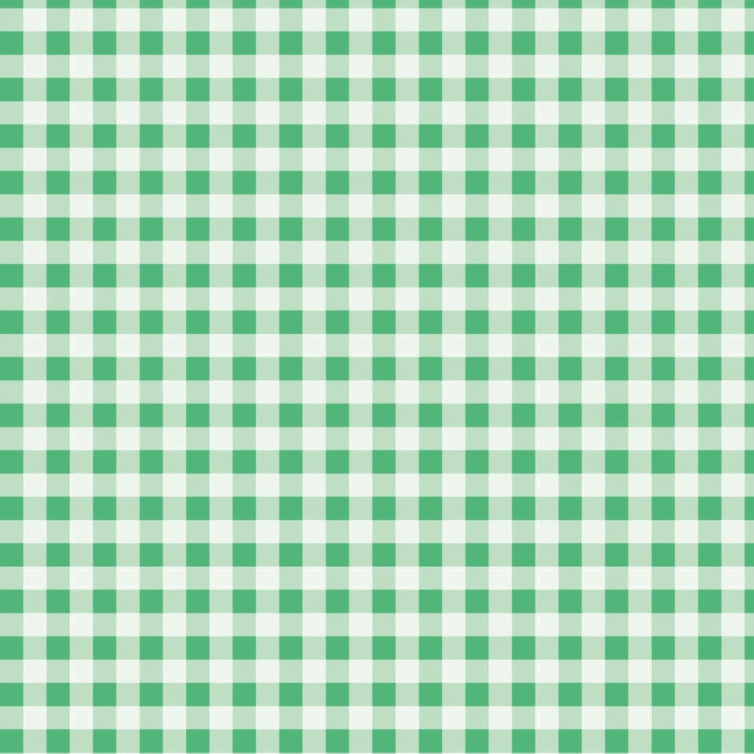 Pack of 5 A4 Sheets of Gingham Card 250gsm - Green