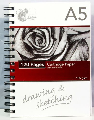 A5 Sketch Pad 120 Pages of 135gsm Cartridge Paper